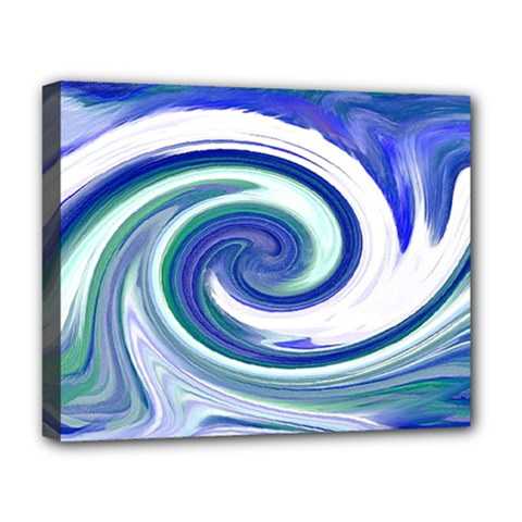 Abstract Waves Deluxe Canvas 20  x 16  (Framed)
