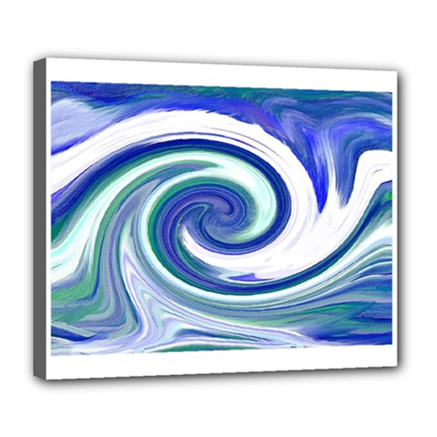 Abstract Waves Deluxe Canvas 24  x 20  (Framed)