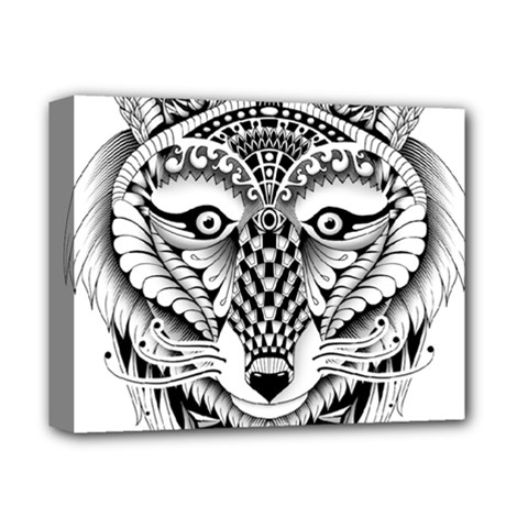 Ornate Foxy Wolf Deluxe Canvas 14  x 11  (Framed)