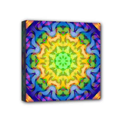 Psychedelic Abstract Mini Canvas 4  x 4  (Framed)
