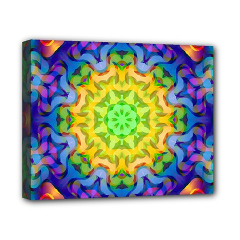 Psychedelic Abstract Canvas 10  x 8  (Framed)
