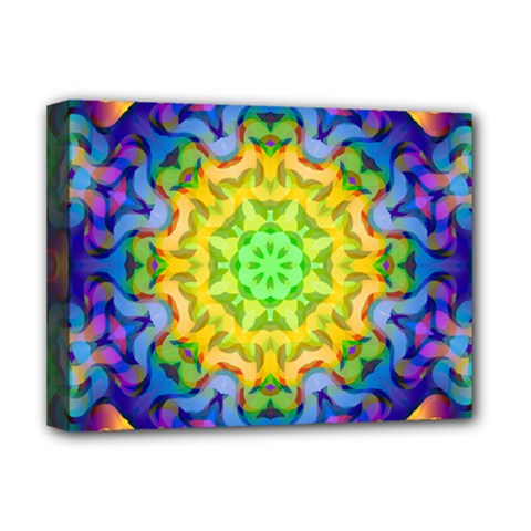 Psychedelic Abstract Deluxe Canvas 16  x 12  (Framed)