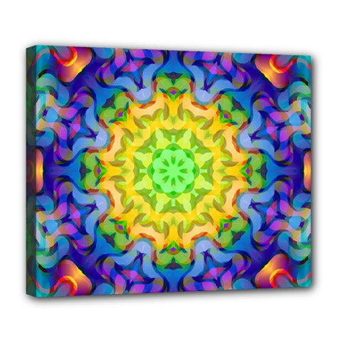Psychedelic Abstract Deluxe Canvas 24  X 20  (framed)