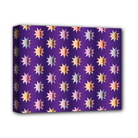 Flare Polka Dots Deluxe Canvas 14  X 11  (framed)