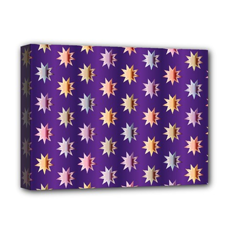 Flare Polka Dots Deluxe Canvas 16  X 12  (framed)