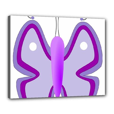 Cute Awareness Butterfly Canvas 20  x 16  (Framed)