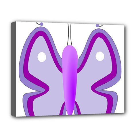 Cute Awareness Butterfly Deluxe Canvas 20  x 16  (Framed)