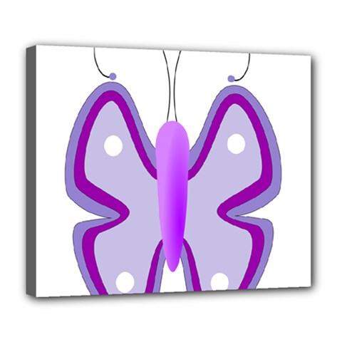 Cute Awareness Butterfly Deluxe Canvas 24  x 20  (Framed)