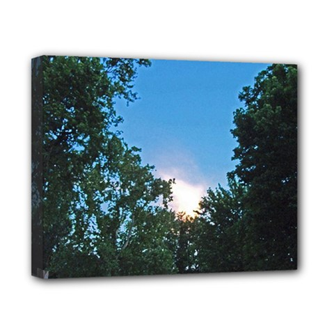 Coming Sunset Accented Edges Canvas 10  X 8  (framed)