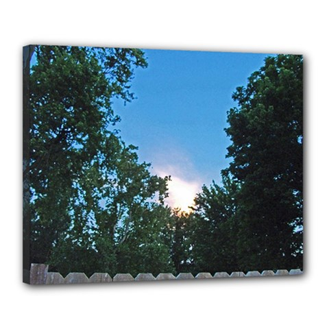 Coming Sunset Accented Edges Canvas 20  X 16  (framed)