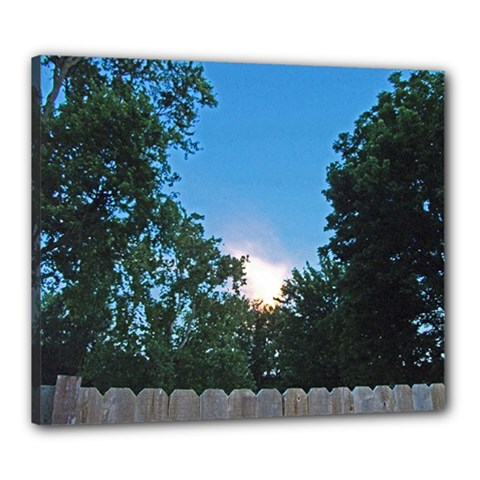 Coming Sunset Accented Edges Canvas 24  X 20  (framed)