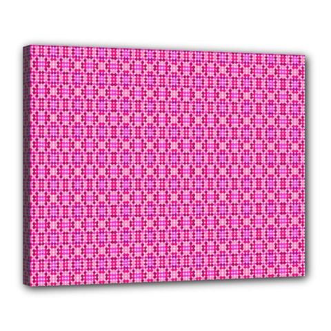 Pink Kaleidoscope Canvas 20  X 16  (framed)