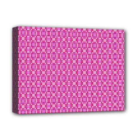 Pink Kaleidoscope Deluxe Canvas 16  x 12  (Framed)