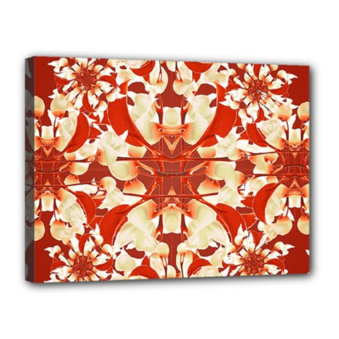 Digital Decorative Ornament Artwork Canvas 16  x 12  (Framed)