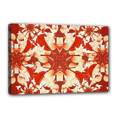 Digital Decorative Ornament Artwork Canvas 18  x 12  (Framed)
