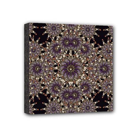 Luxury Ornament Refined Artwork Mini Canvas 4  x 4  (Framed)