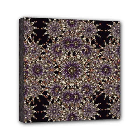 Luxury Ornament Refined Artwork Mini Canvas 6  x 6  (Framed)