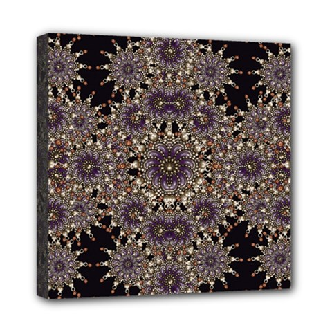 Luxury Ornament Refined Artwork Mini Canvas 8  x 8  (Framed)