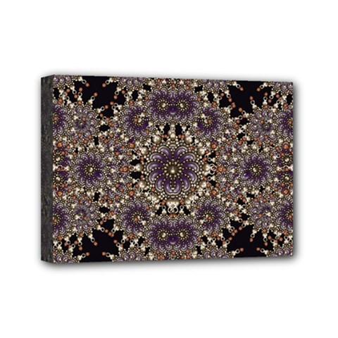 Luxury Ornament Refined Artwork Mini Canvas 7  x 5  (Framed)