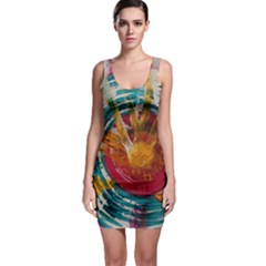 Abstract Ripples Bodycon Dress