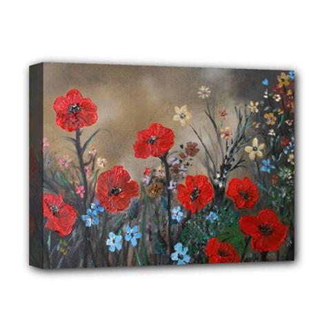Poppy Garden Deluxe Canvas 16  x 12  (Framed)
