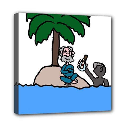 Desert Island Humor Mini Canvas 8  x 8  (Framed)