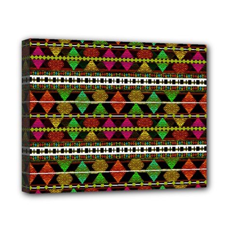 Aztec Style Pattern Canvas 10  x 8  (Framed)