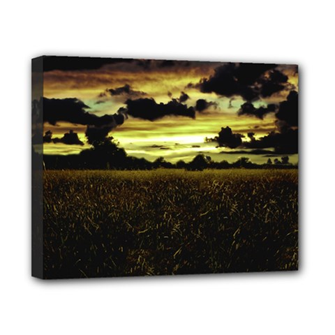Dark Meadow Landscape  Canvas 10  x 8  (Framed)