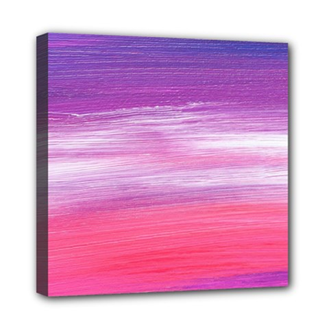Abstract In Pink & Purple Mini Canvas 8  x 8  (Framed)