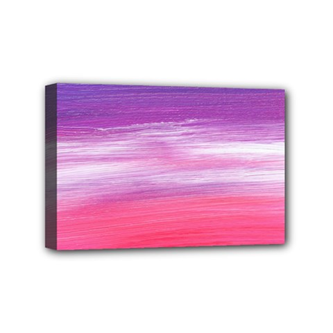 Abstract In Pink & Purple Mini Canvas 6  x 4  (Framed)