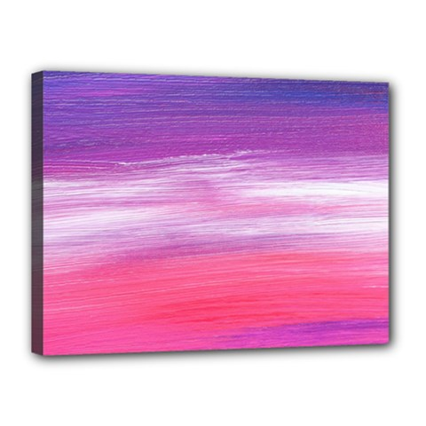 Abstract In Pink & Purple Canvas 16  X 12  (framed)