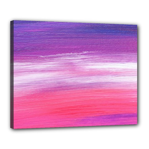 Abstract In Pink & Purple Canvas 20  x 16  (Framed)