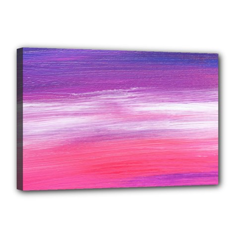 Abstract In Pink & Purple Canvas 18  x 12  (Framed)