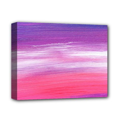 Abstract In Pink & Purple Deluxe Canvas 14  x 11  (Framed)
