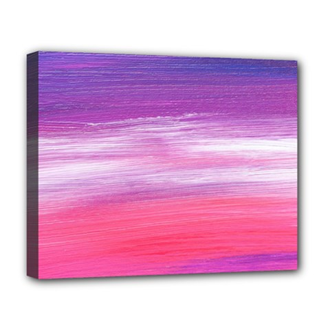 Abstract In Pink & Purple Deluxe Canvas 20  X 16  (framed)
