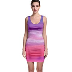 Acrylic Abstract in Pink & Purple Bodycon Dress