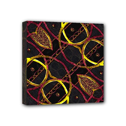 Luxury Futuristic Ornament Mini Canvas 4  X 4  (framed)