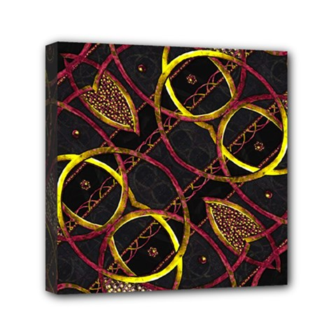 Luxury Futuristic Ornament Mini Canvas 6  X 6  (framed)