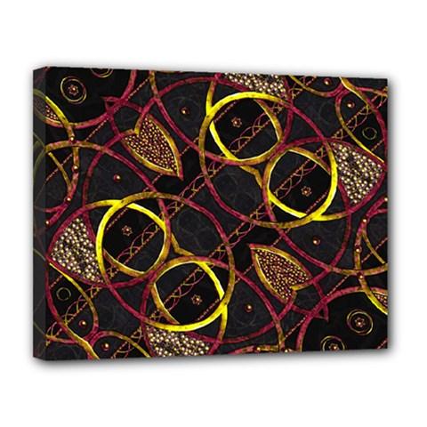 Luxury Futuristic Ornament Canvas 14  x 11  (Framed)