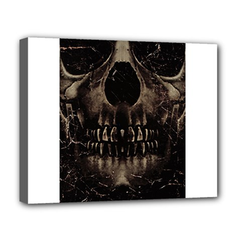 Skull Poster Background Deluxe Canvas 20  X 16  (framed)