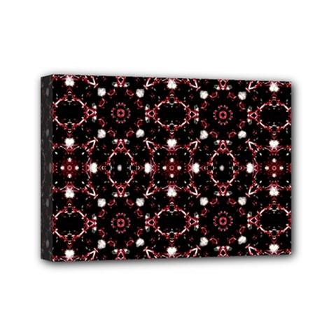 Futuristic Dark Pattern Mini Canvas 7  x 5  (Framed)