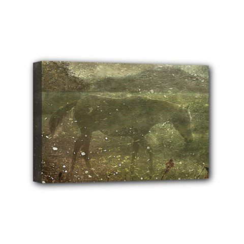 Flora And Fauna Dreamy Collage Mini Canvas 6  x 4  (Framed)