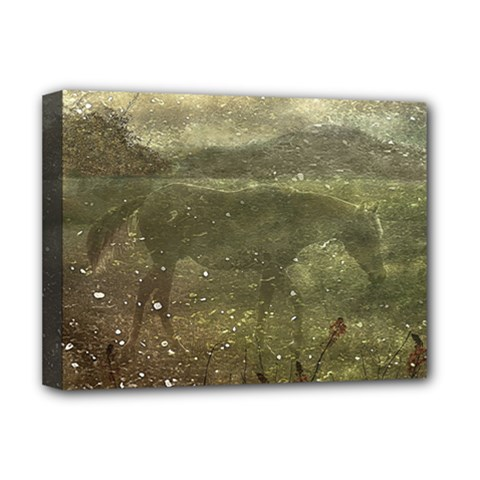 Flora And Fauna Dreamy Collage Deluxe Canvas 16  x 12  (Framed)