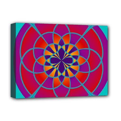 Mandala Deluxe Canvas 16  x 12  (Framed)