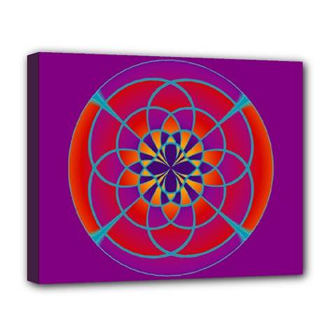 Mandala Deluxe Canvas 20  x 16  (Framed)
