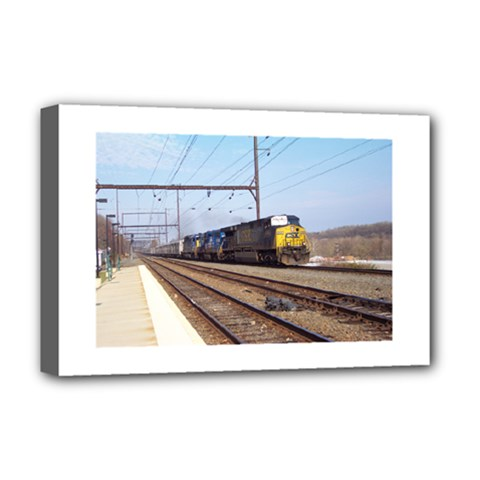 The Circus Train Deluxe Canvas 18  x 12  (Framed)