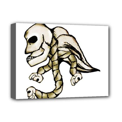 Angel Skull Deluxe Canvas 16  x 12  (Framed)