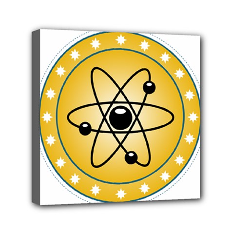 Atom Symbol Mini Canvas 6  x 6  (Framed)