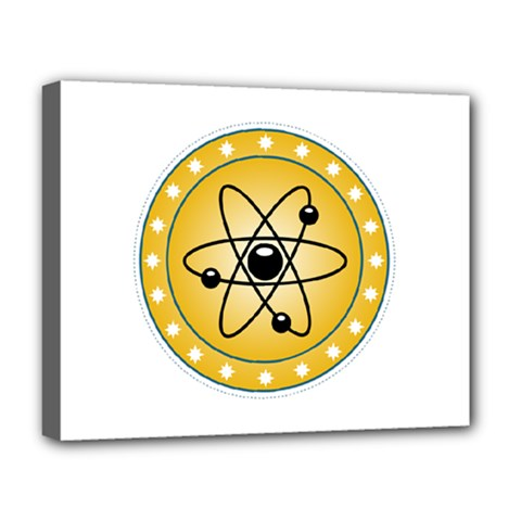 Atom Symbol Deluxe Canvas 20  X 16  (framed)