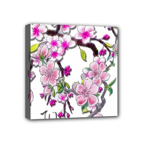 Cherry Bloom Spring Mini Canvas 4  x 4  (Framed)